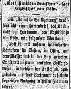 BJ-1915-02-17-God is with the Germans, says archbishop from Cologne
