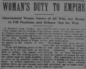Ayr News-1915-03-25-Woman's Duty to Empire
