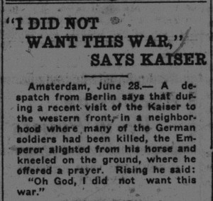 """""""I did not want this war"""""""