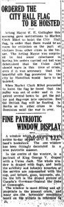 Displays of Patriotism in Berlin, Ontario (11 August 1914)