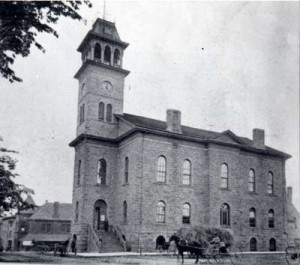 Galt Town Hall, built in 1857, in 1902