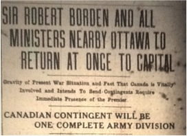 Politicians Travel Back to Ottawa (1 August 1914)