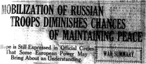 Russia Announces Mobilization (29 July 1914)