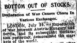 Stock Markets Begin to Close (29 July 1914)