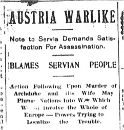 The Ultimatum to Servia (23 July 1914)