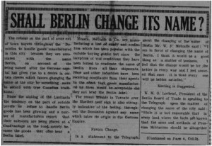 Shal Berlin Change its Name