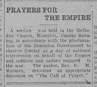 prayer for empire